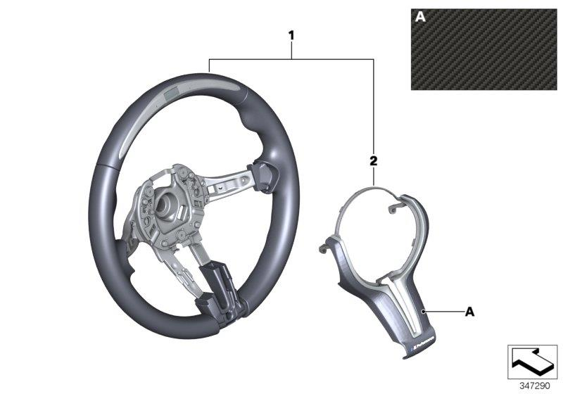 Diagram M Performance strng.wheel w/race display for your BMW