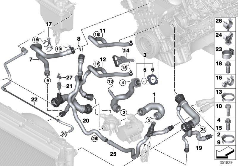11537545278 - O-ring  29x2  9  Coup U00e9  Cooling  Hoses
