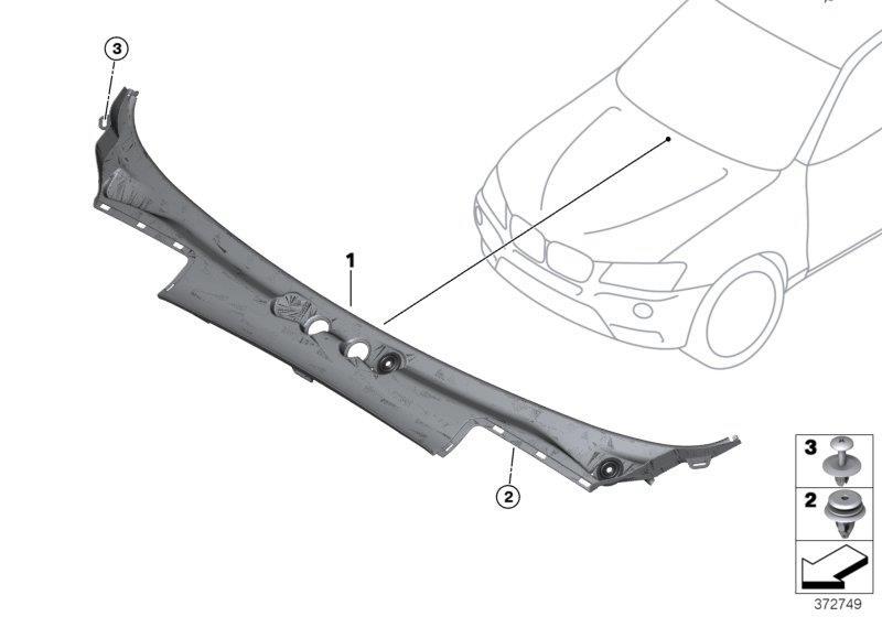 2014 Bmw X3 Plug  Cowl - 07147255351