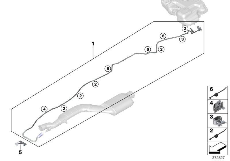 Bmw X3 Metering Line  Fuel  Tank  System  Scr - 16197286301