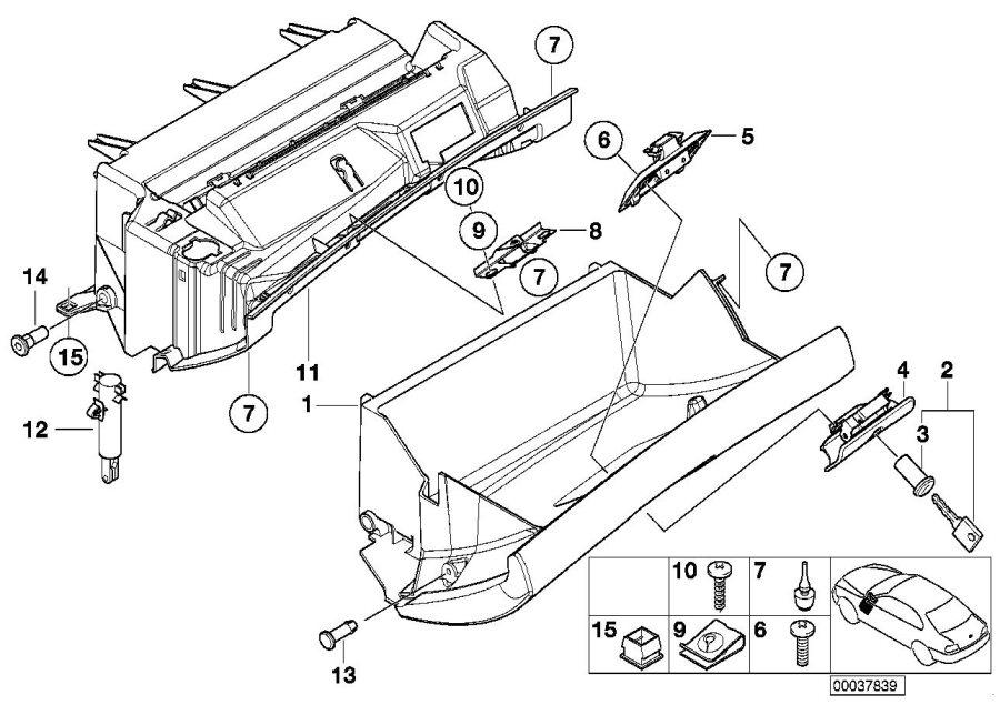 Bmw X5 Glove Box Damper - 51168224806