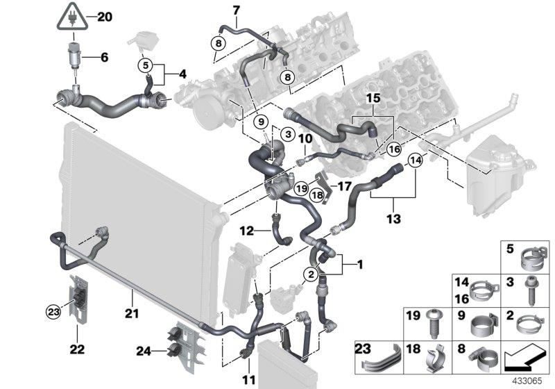 2011 Bmw 550ix Temperature Sensor  Coolant  Alpina  Hoses