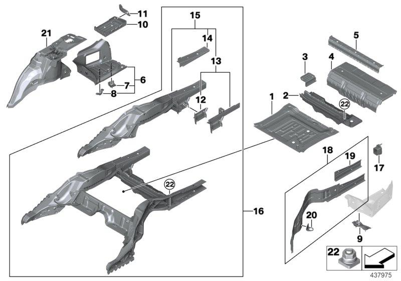 41007436957 - Mount For Scr Container  Floor  Body  Rear