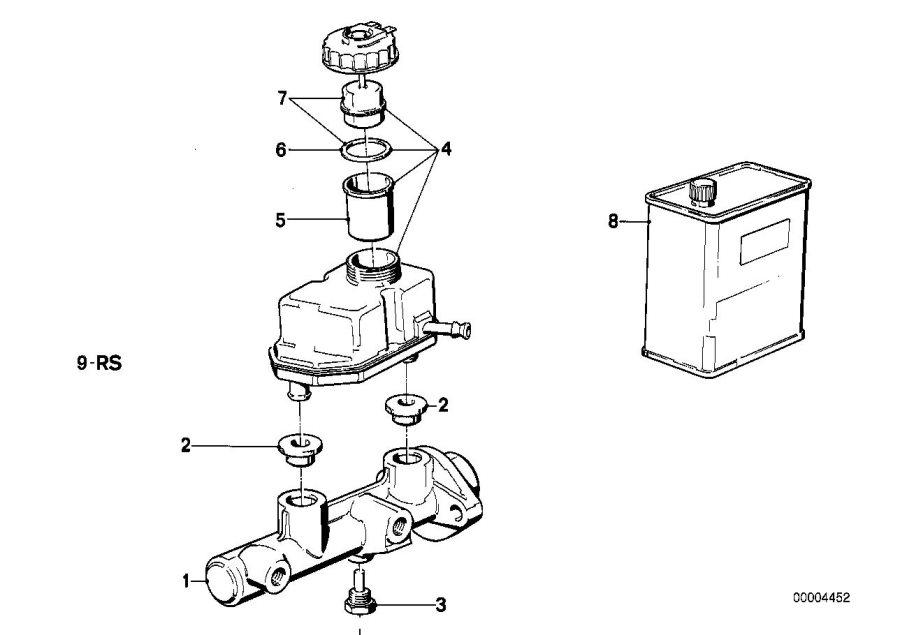 1992 Bmw M5 3 6 Gasket  Brake  Cylinder  Master