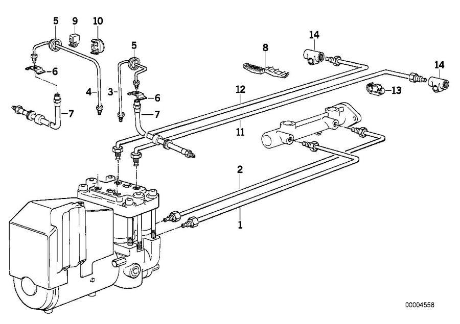 1994 Bmw 540i Rubber Grommet  D 40mm  Brake  Front  Pipe