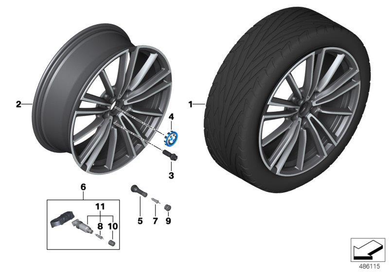 bmw i8 disc wheel light alloy jet 7 5jx20 et 40 36116887445 genuine bmw part