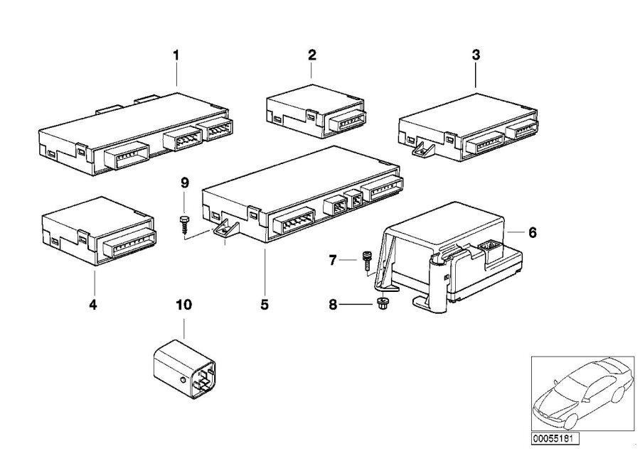 1994 Bmw 325i Rollover Sensor  Control  Units