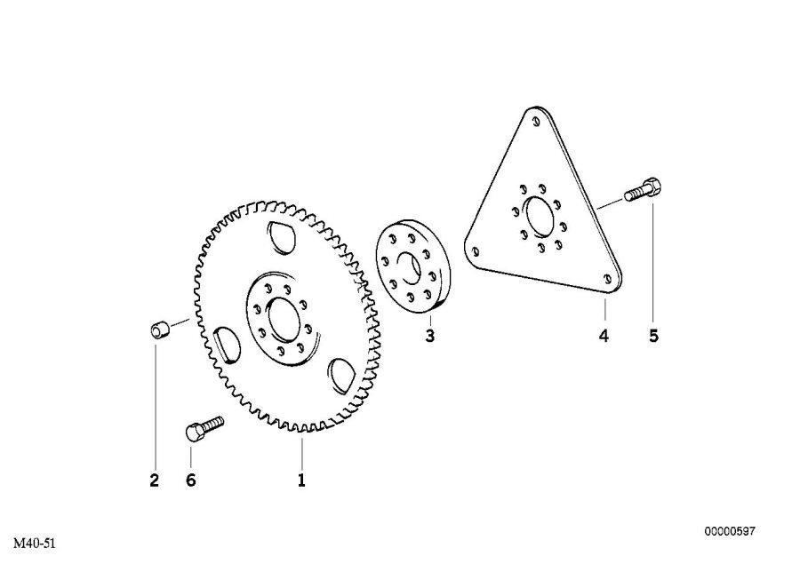 1998 Bmw M3 Spacer  Flywheel - 11221710038