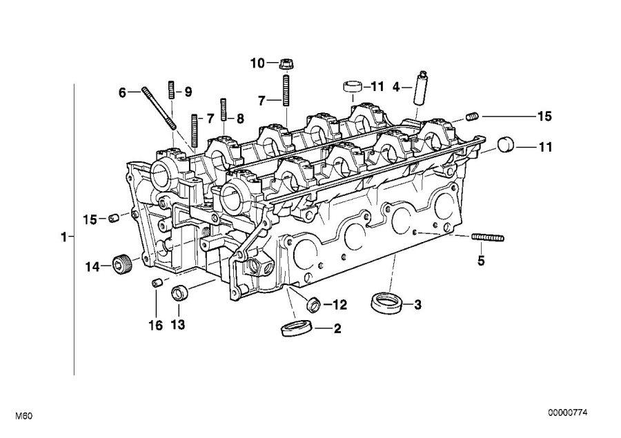 1994 Bmw 740il Screw Plug  M10x1 - 11127539543