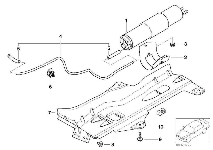Bmw 320i Vacuum Pipe  Fuel - 13327561060