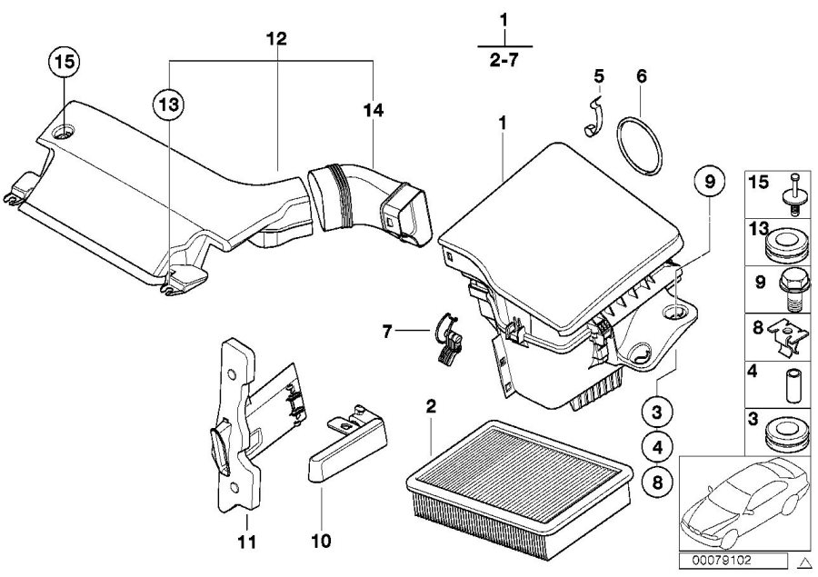 2005 Bmw 325ci Intake Silencer  Fuel  Filter  Cartridge