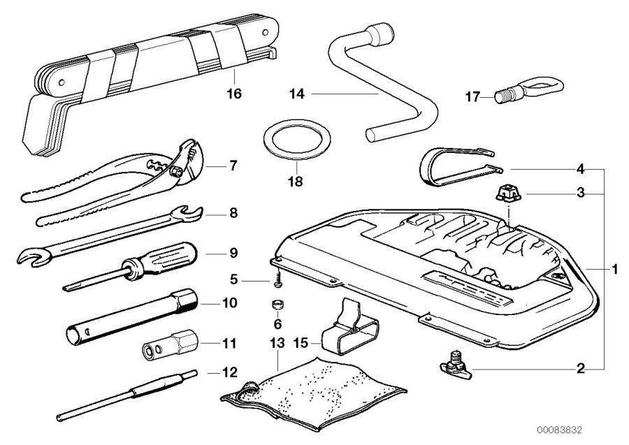 2002 Bmw 540i Tool Box  Lifting  Kit  Jack
