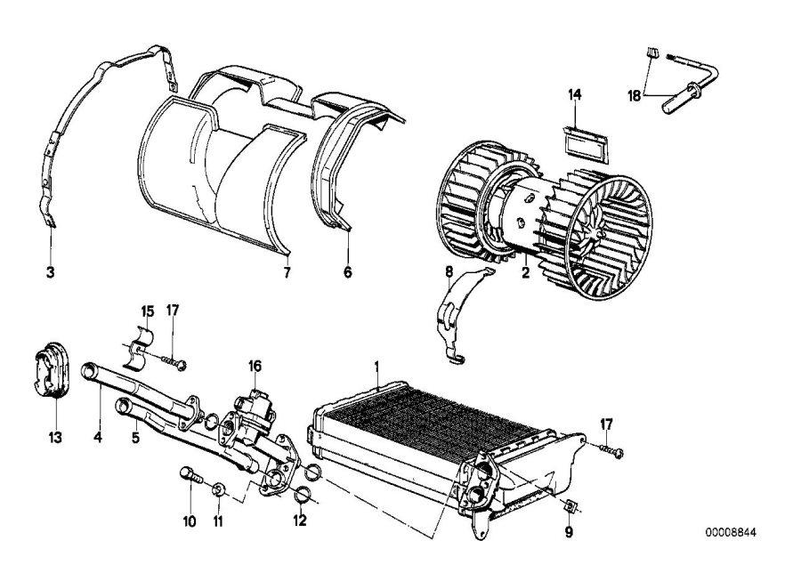 64111386707 - water valve  heater  radiator