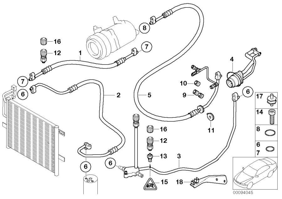 2002 Bmw 330ci Pressure Sensor - 64539323658