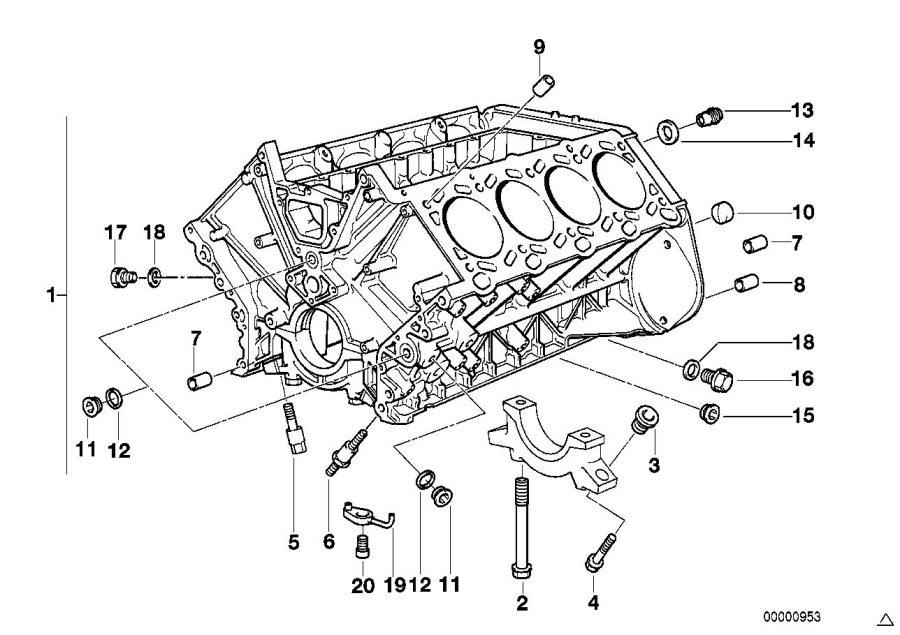 11111734667 - non-return valve  engine  block