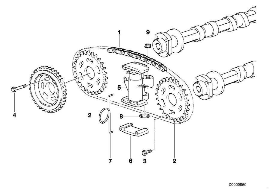 BMW    740iL Sprocket Timing  chain  gear  11311741115