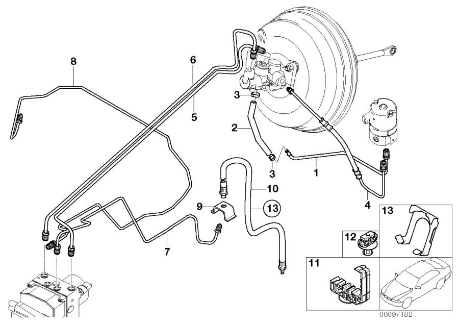 Bmw X5 Pipe  Brake  Front - 34321165918