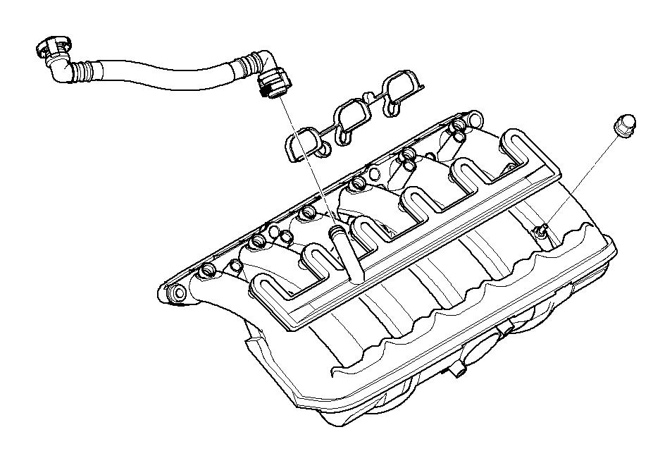 11157513756 - Vent Hose  Manifold  Intake  System  Engine
