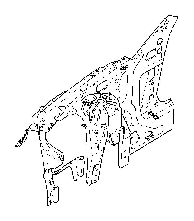 41117075124 - Wheelhousing  Front Right  Basis