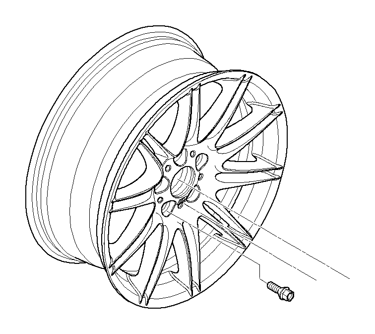 2011 bmw 335is light alloy rim  9jx19 et 39  wheels  wheel