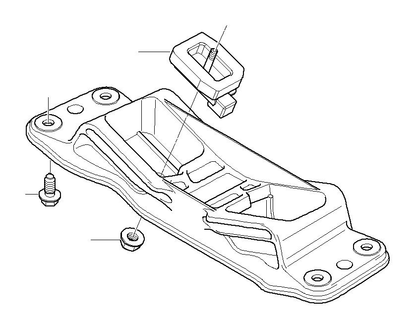 22316777175 - gearbox mount  suspension  transmission  mounts  engine