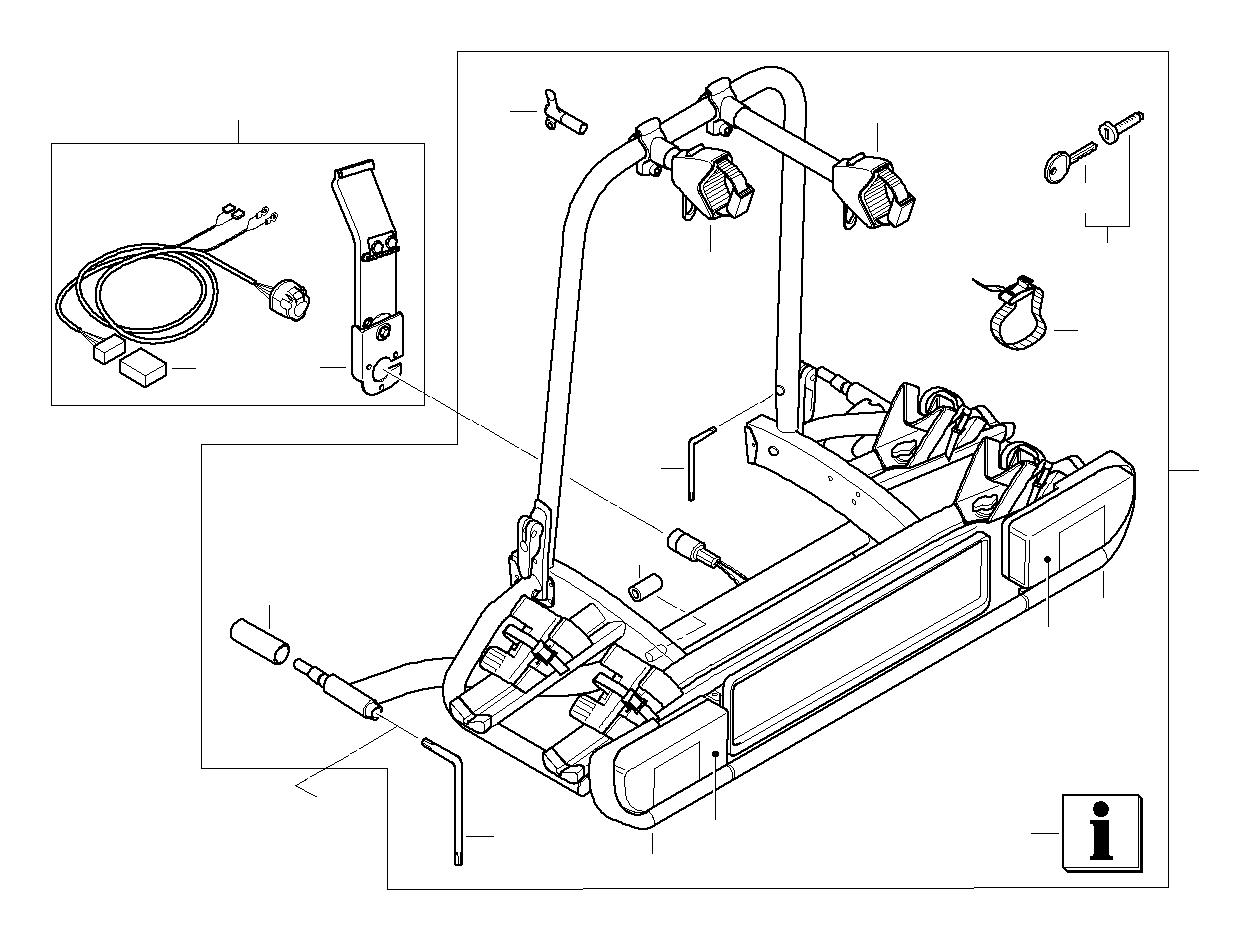 2015 bmw x1 trailer towing module  4r  alpina  rear  ece - 71606850497
