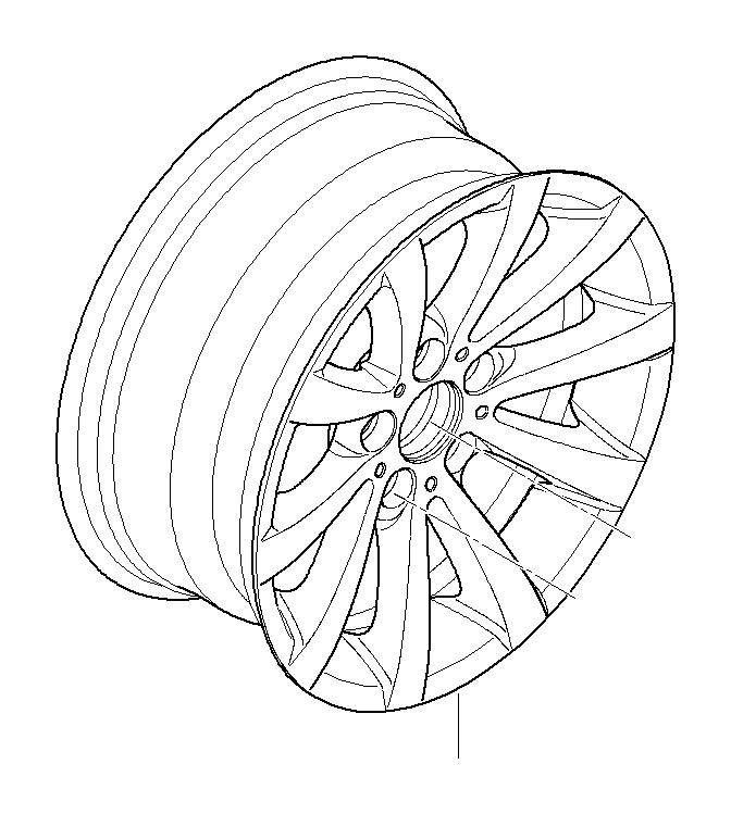 36116783631 - light alloy rim  8jx17 et 34  wheels  wheel