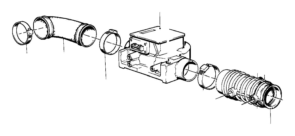 bmw 535i exch-mass air flow sensor  volume  system  fuel - 13627547981