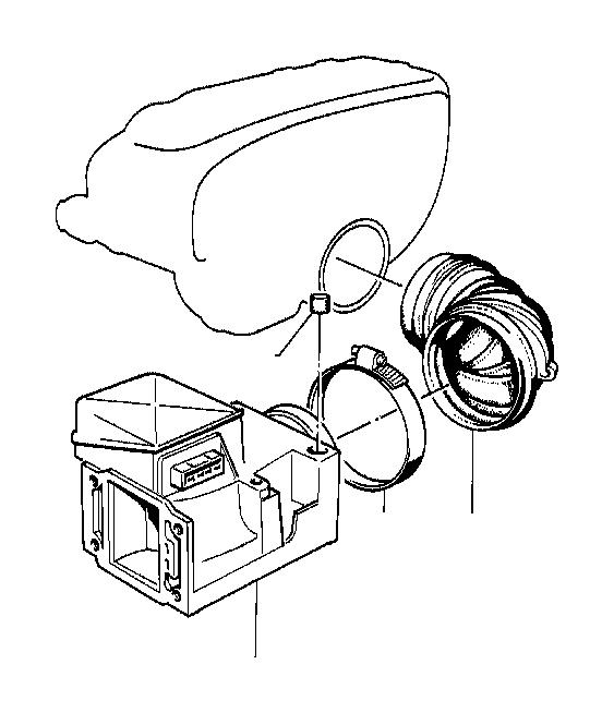 1991 bmw 735i exch-mass air flow sensor  volume  system  fuel - 13627547981