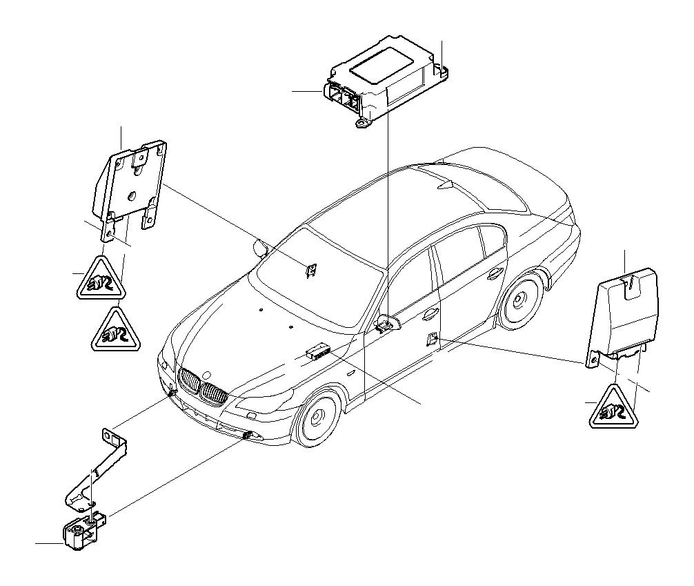 bmw 545i airbag ecu with gateway module  electric  system  electrical - 65776975684