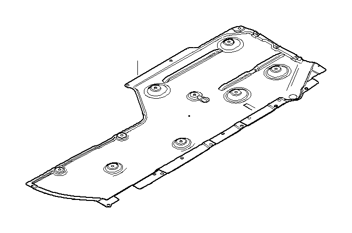 bmw m3 lateral underbody shield  right - 51758040536