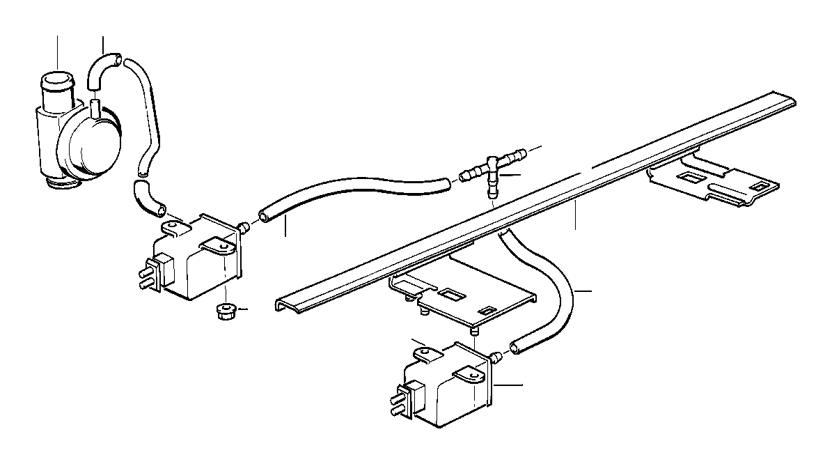 Bmw 318i Vacuum Hose 2x4 Heater Conditioning Air