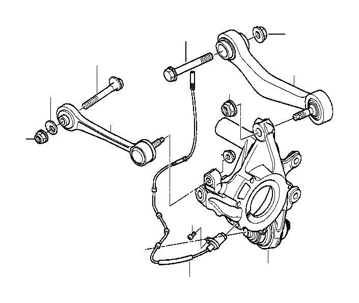 1997 Bmw 540i Eccentric Flat Washer Suspension Axle