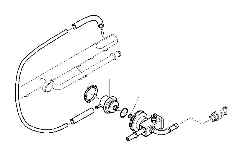 bmw 318i vacuum hose  2x4  heater  conditioning  air - 64111368684