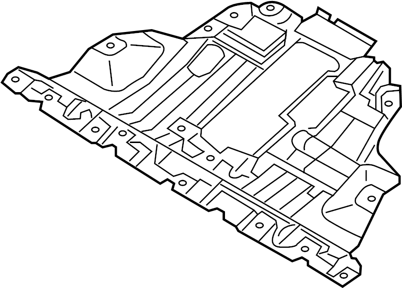 bmw 430ix engine compartment shielding awd  underhood  trim  mounting  body